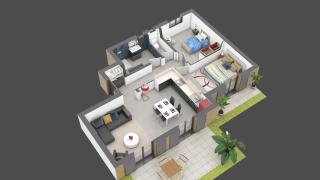 appartement A02 de type T3