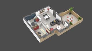 appartement A14 de type T2
