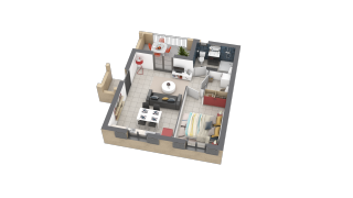 appartement D14 de type T2