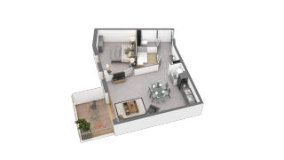 appartement B203 de type T2