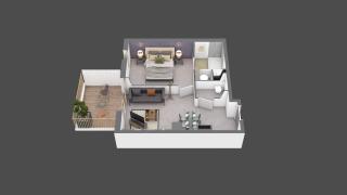 appartement B204 de type T2