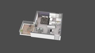 appartement B209 de type T1