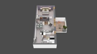 appartement B212 de type T2
