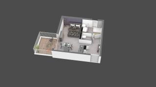 appartement B308 de type T1