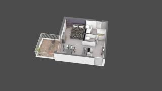 appartement B406 de type T1