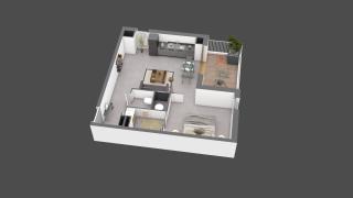 appartement B407 de type T2