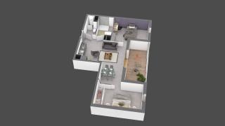 appartement B408 de type T2