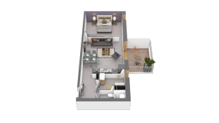 appartement B410 de type T2