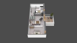appartement B501 de type T2