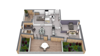 appartement B502 de type T4