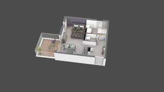 appartement B505 de type T1