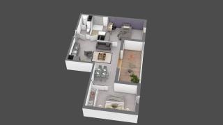 appartement B507 de type T2