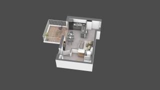 appartement B601 de type T1