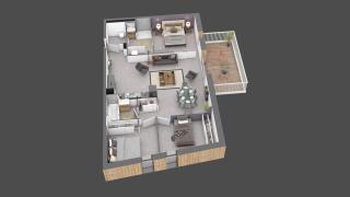 appartement C001 de type T4
