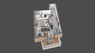 appartement C002 de type T2
