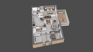 appartement C102 de type T4