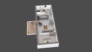 appartement C104 de type T2