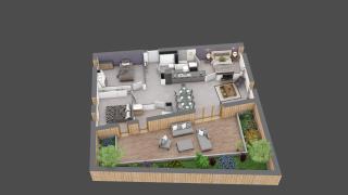 appartement C401 de type T4