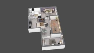 appartement C405 de type T2
