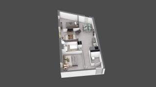 appartement C503 de type T2