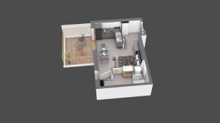 appartement C601 de type T1